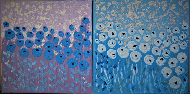 Blue Flowers - AlecA Art