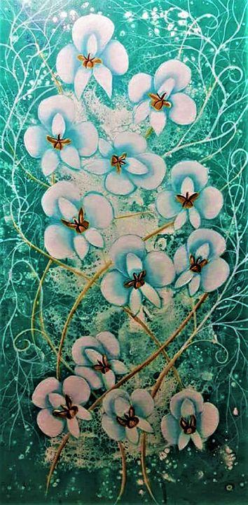 White Orchids - AlecA Art