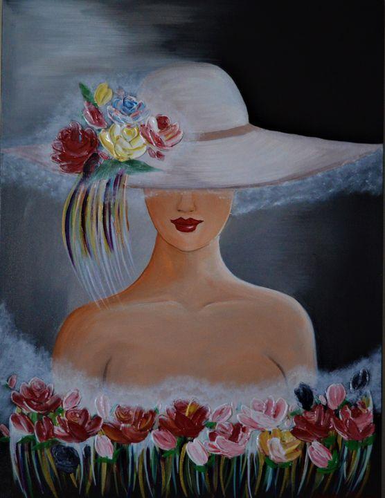 Lady In Hat - AlecA Art