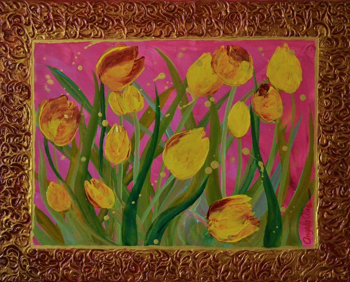 "Gold Life ""Tulips"" - AlecA Art"