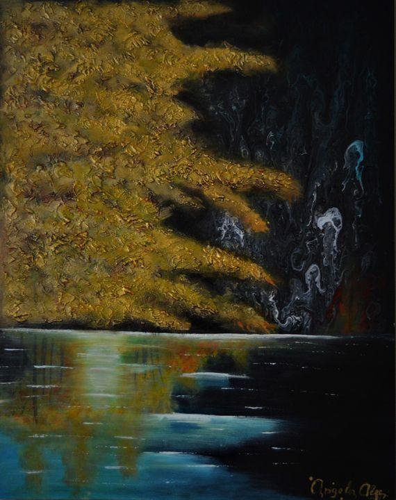 Night At The Lake - AlecA Art