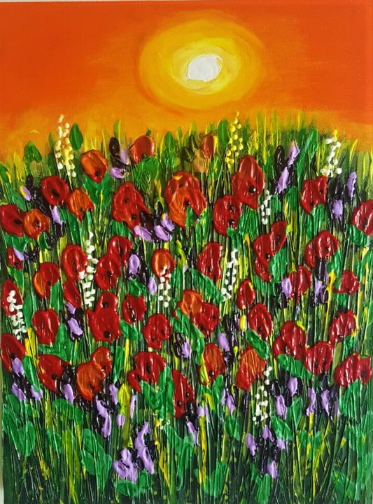 Summer Poppies - AlecA Art