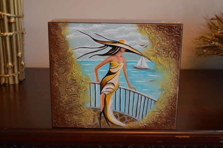 SOLD Girl By the Sea - AlecA Art
