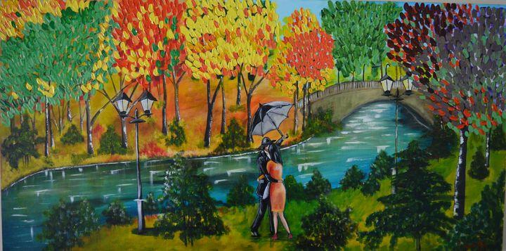 Couple At The Park - AlecA Art