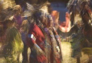 PowWow Dancers Couple 6