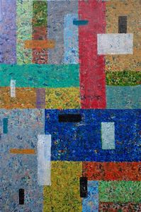Abstract colourful block