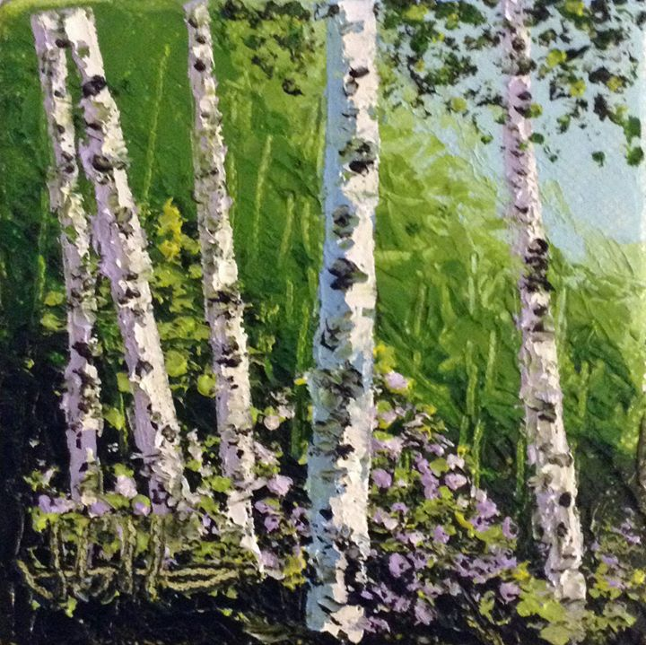 Summer Birches - Artist J.G. Heinrichs