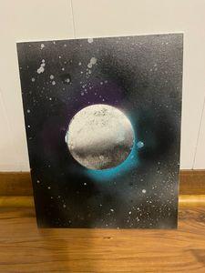 Spray Painted Moon - Mik's Media
