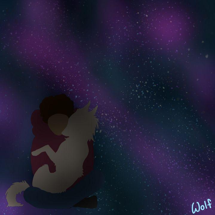 Galaxy Cuddles - Wolf