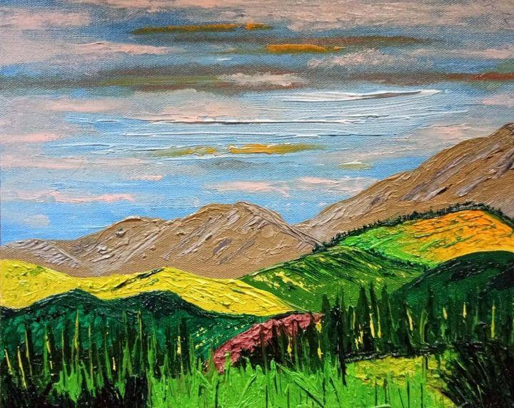 Rolling hills - Madhumita's Paintings
