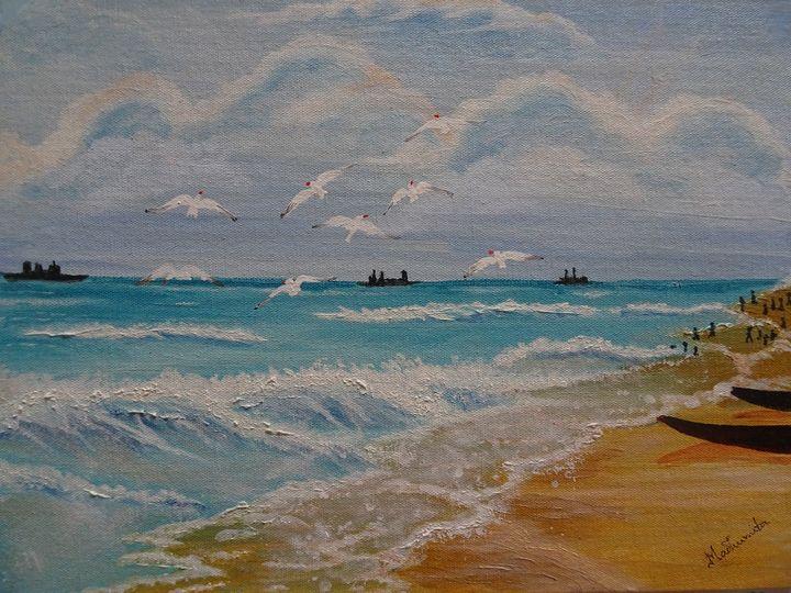 Seagulls - Madhumita's Paintings