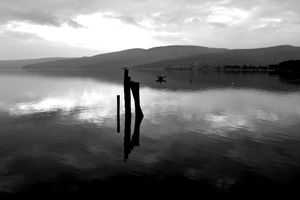 The lake of Bracciano, Italy