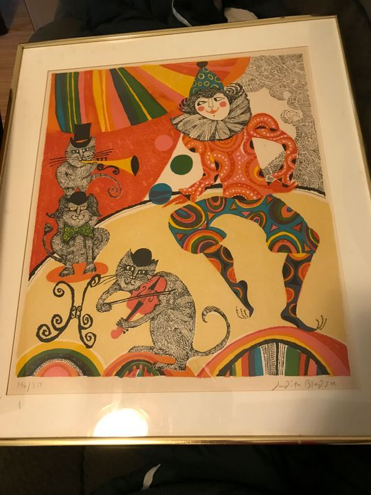 Cats and Clown - Judith Bledsoe