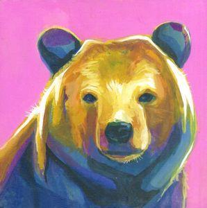 Funky Bear - Emma Bergman Art