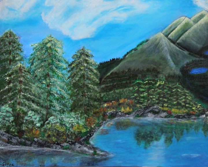 Early Fall Day In The  Mountains - R. Giese Originals