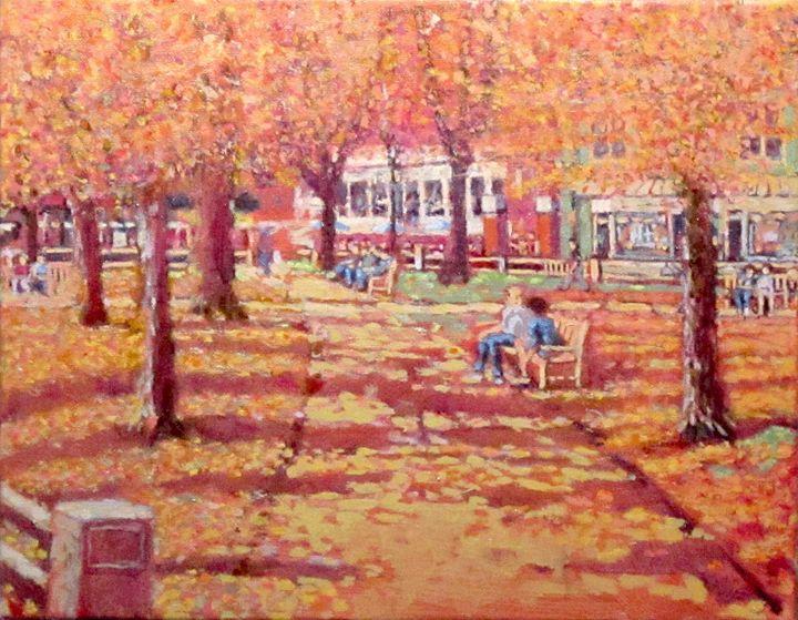 Harvard Square, Winthrop Park, Fall - Sean Moore