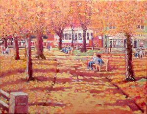 Harvard Square, Winthrop Park, Fall