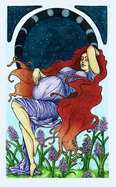 Fertility Art Nouveau Print - Brandy Woodford