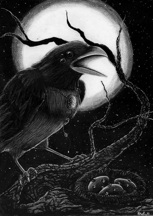 Three Eyed Crow Print - Brandy Woodford