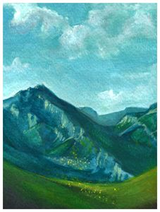 Gouache Swiss Alps Print