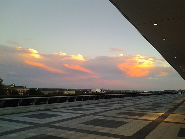 Sunset at Kennedy Center - Vince R. Brown Photography