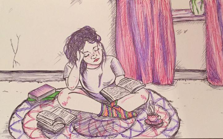 Quiet reading - Cari Elizabeth Art and Illustration