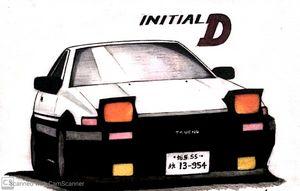AE86 Hachiroku Initial D
