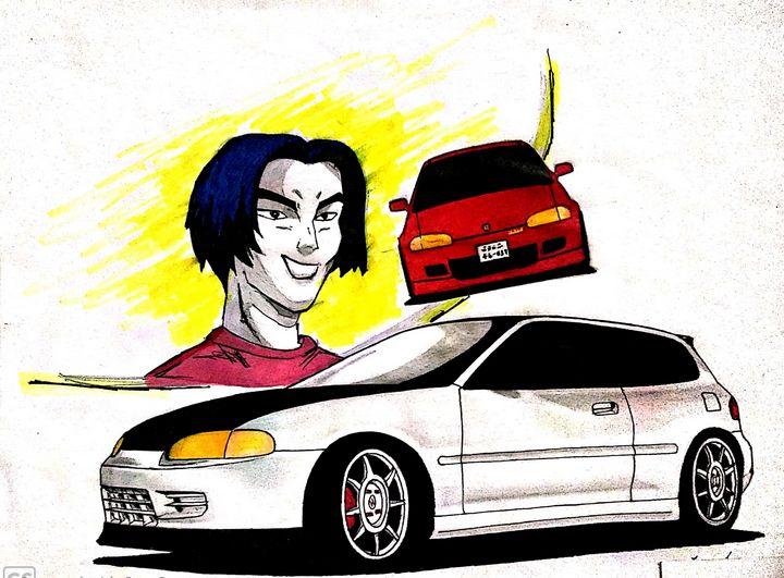 Honda Civic EG6 initialD style - Malinda Jaye Cars