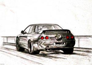 Drag Godzilla - nissan skyline GTR
