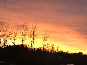 The sunset at Stop&Shop