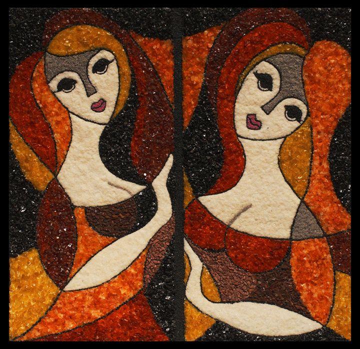 Las Donnas Bellissimas - Mozambique Gemstone Artwork Gallery