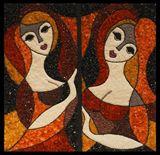 Las Donnas Bellissimas, 500 X 500 cm