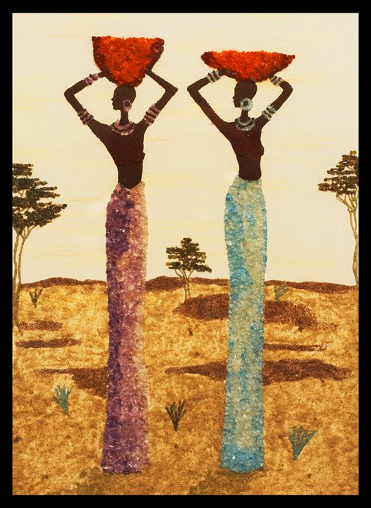 African Twins - Mozambique Gemstone Artwork Gallery