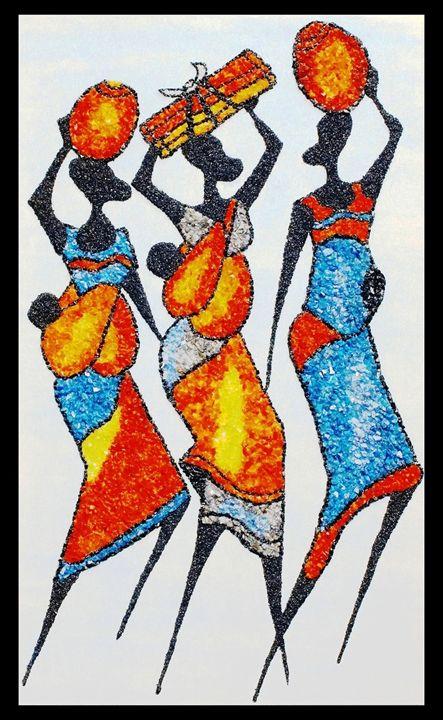 Market 1 - Mozambique Gemstone Artwork Gallery