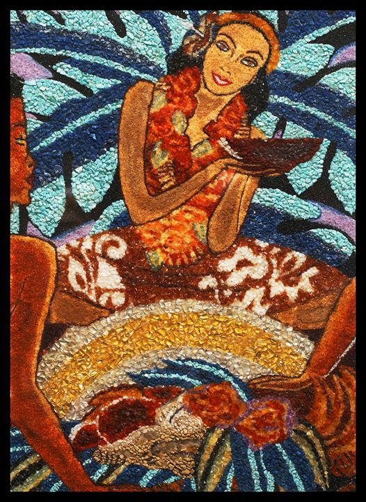 Lady luau - Mozambique Gemstone Artwork Gallery