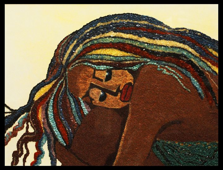 Thinking on you - Mozambique Gemstone Artwork Gallery