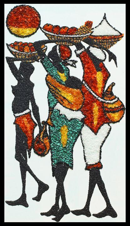 Market 2 - Mozambique Gemstone Artwork Gallery