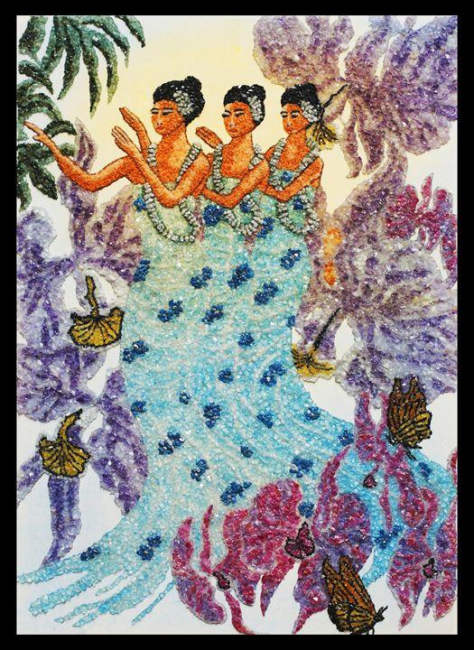 Hawaiians - Mozambique Gemstone Artwork Gallery
