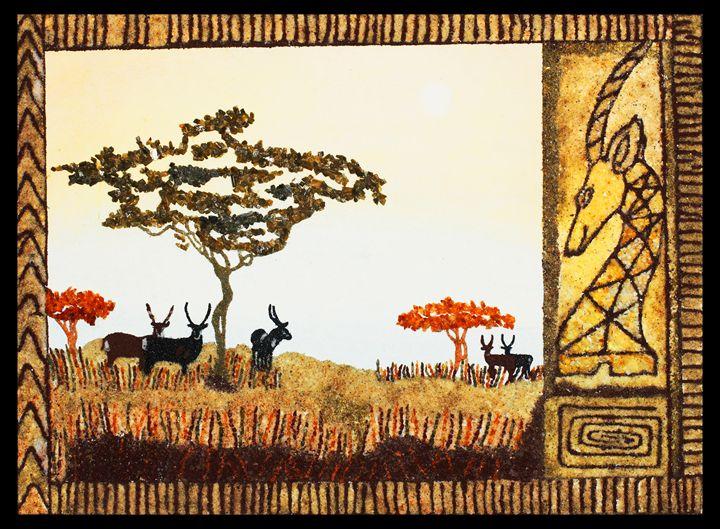 Gorongosa wild life - Mozambique Gemstone Artwork Gallery