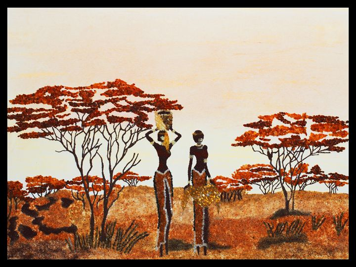 African Savanna - Mozambique Gemstone Artwork Gallery
