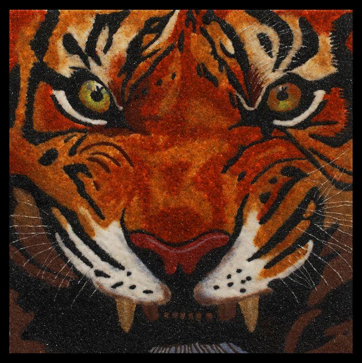 Tiger - Mozambique Gemstone Artwork Gallery