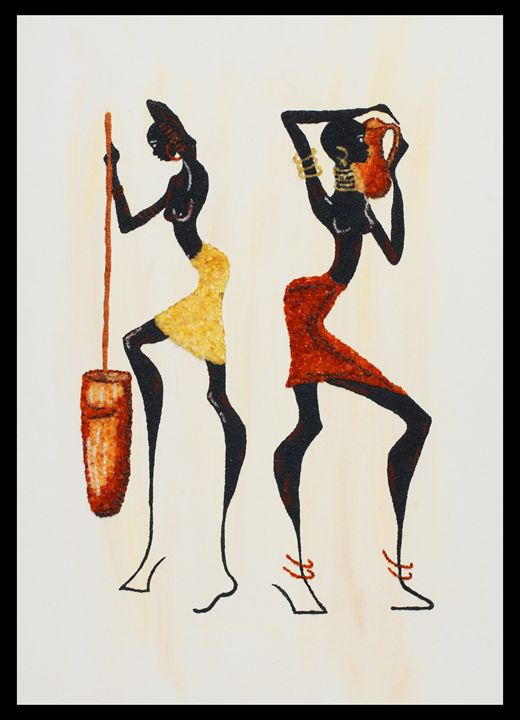 African Girls - Mozambique Gemstone Artwork Gallery