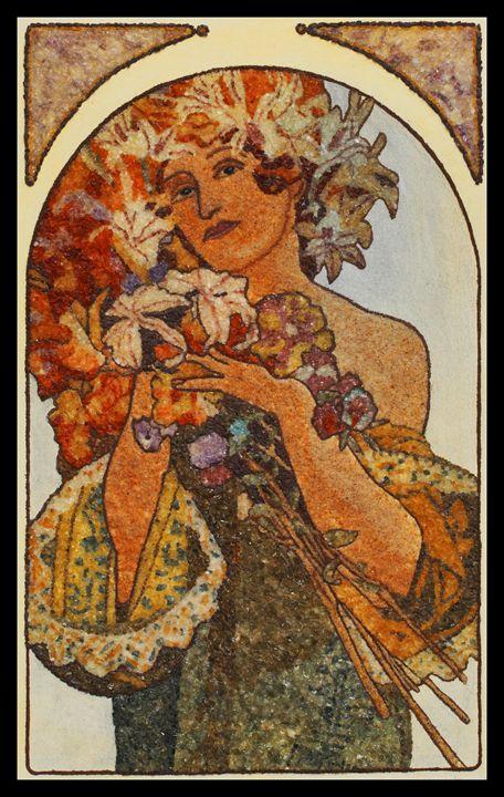 Gustav Klimt - Mozambique Gemstone Artwork Gallery