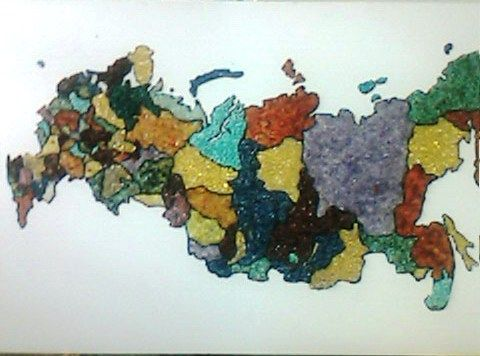 Mapa da Russia - Mozambique Gemstone Artwork Gallery