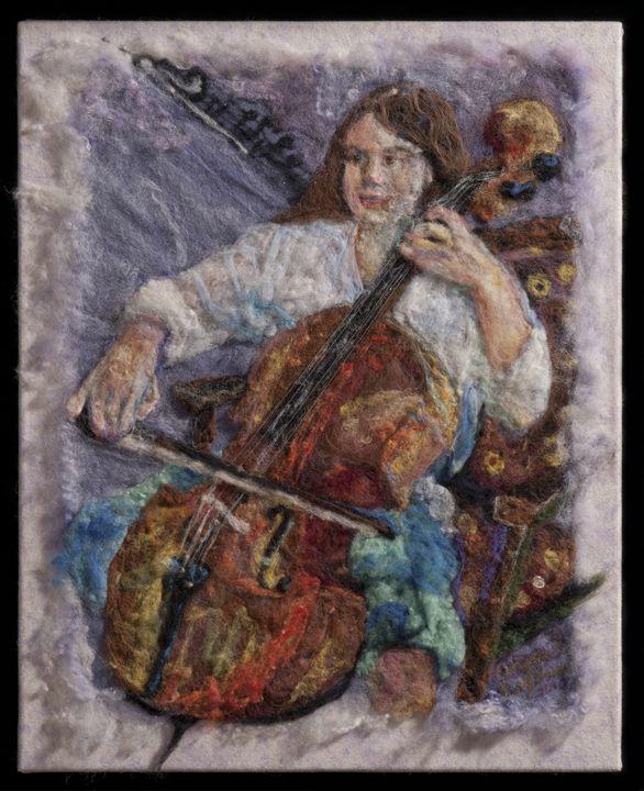 Cello Mellow - Abigail Engstrand Fine Artist