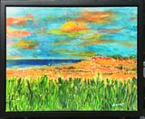 Acrylic on canvas , sunset , Hawaii
