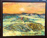 Original painting, mixed media colla