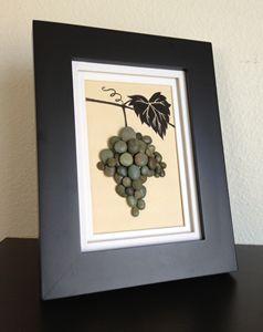 Pebble Artwork-Grape Bunch