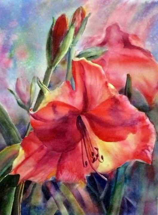 Amaryllis - MB Watercolors