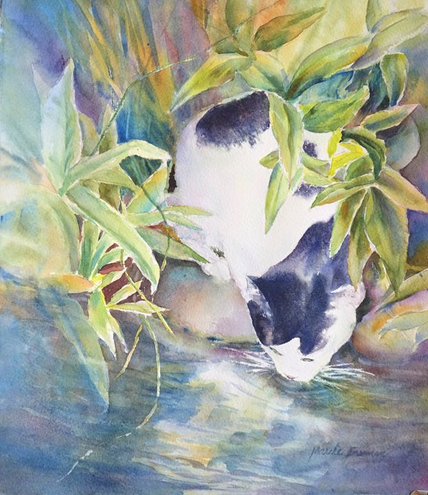 Toby At The Pond - MB Watercolors
